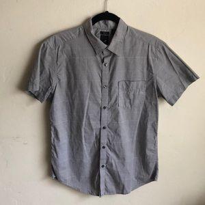 Men's button up short sleeve shirt.
